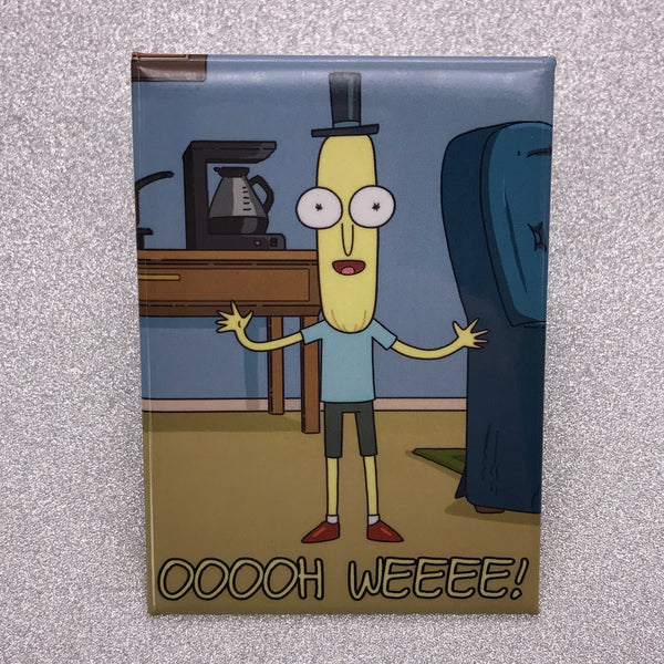 Rick and Morty Oooh Weee Mr. Poopybutthole Fridge Magnet