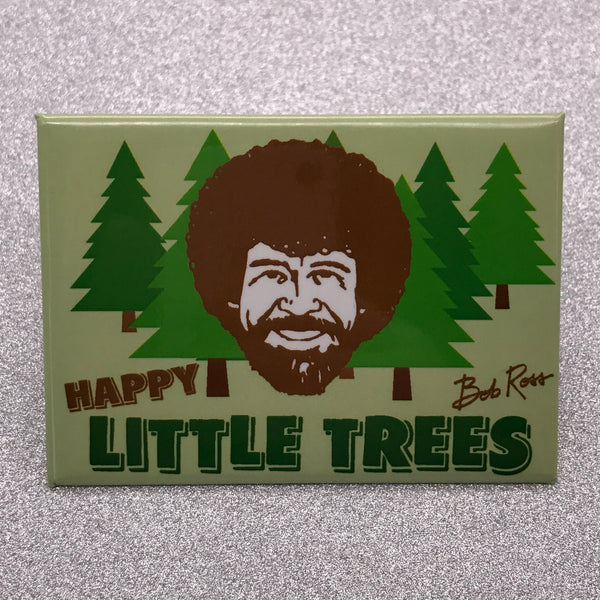 Bob Ross 'Happy Little Trees' Fridge Magnet