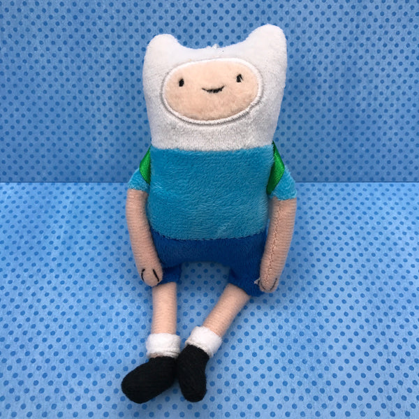 Adventure Time Finn with Backpack Plush Clip-On Keychain