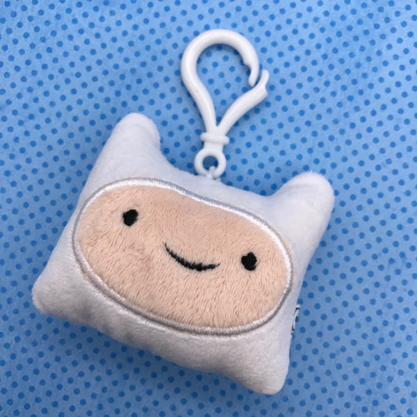 Adventure Time Finn Head Plush Clip-On Keychain