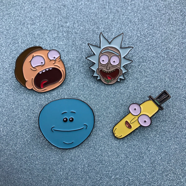 Rick and Morty Enamel Pin Collection