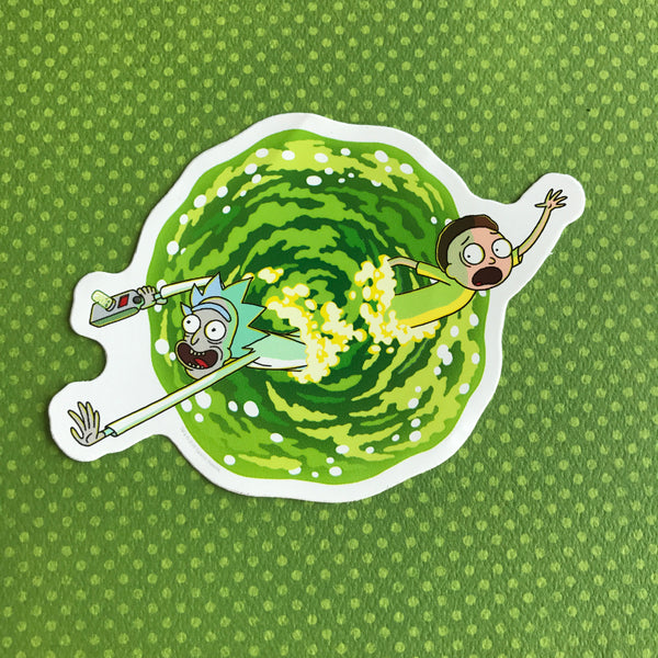 Rick and Morty Portal Sticker