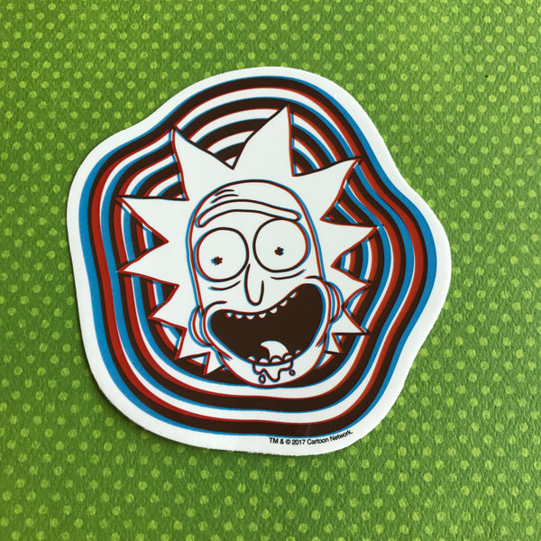 Rick and Morty 3D Rick Sticker