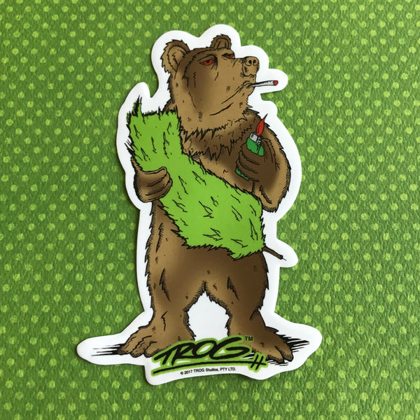 TROG Cali Bear Sticker