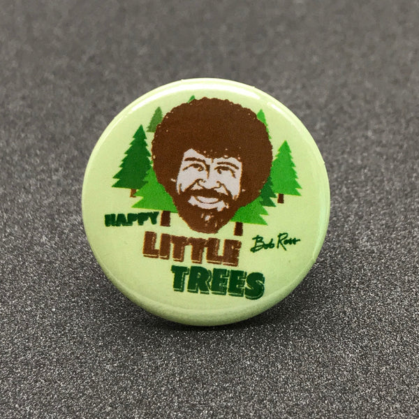 Bob Ross 'Happy Little Trees' Button
