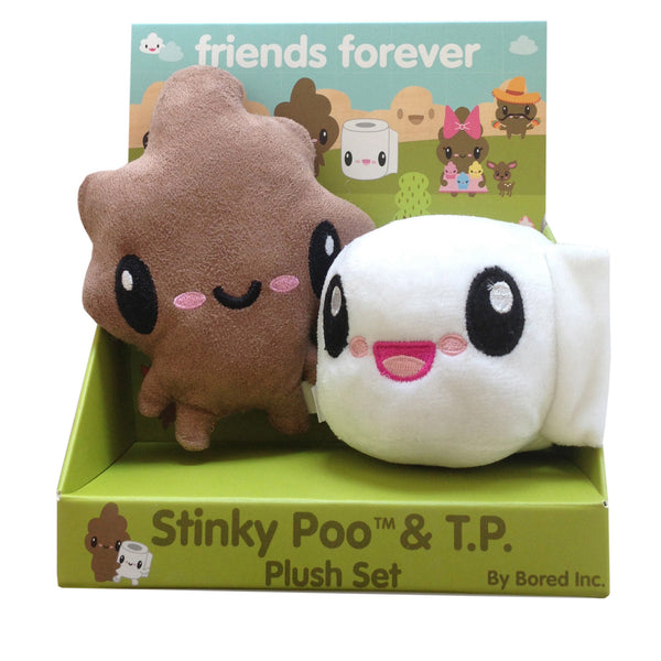 Bored Inc. Stinky Poo & TP Friends Forever Plush Set