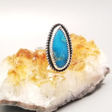 Kingman Turquoise Ring-Size 8 Sterling  Silver