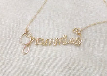 Personalized Wire Cursive Name Necklace-Gold-Rose Gold