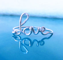 Dainty Love Word Ring-Sterling Silver-14K Gold Rose Gold Filled