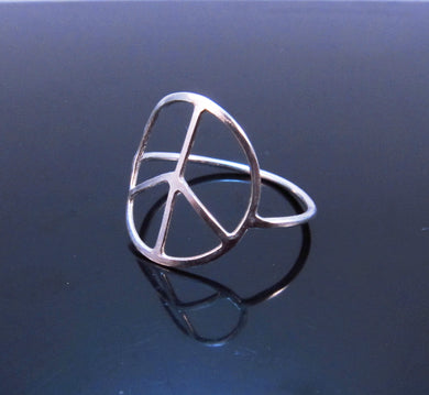 Handmade Peace Sign Ring-Sterling Silver-14K Gold Filled