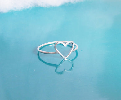 Dainty Heart Ring-Sterling Silver-14K Gold Filled