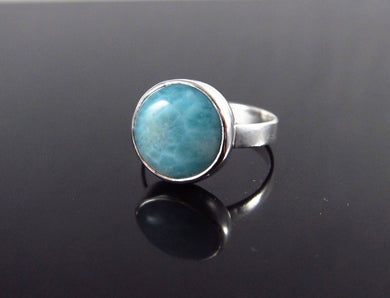 Larimar Ring-Size 6.5-Sterling Silver