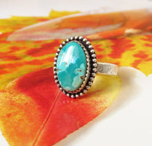 Genuine Turquoise Ring-Size 6.5-Sterling Silver