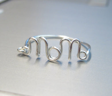 Dainty Wire Mom Ring-Sterling Silver