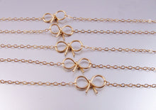 Bow Bracelets-Bridesmaid Gift Set of 5,6,7,8,9,10,11,12-14K Gold-Rose Gold Filled