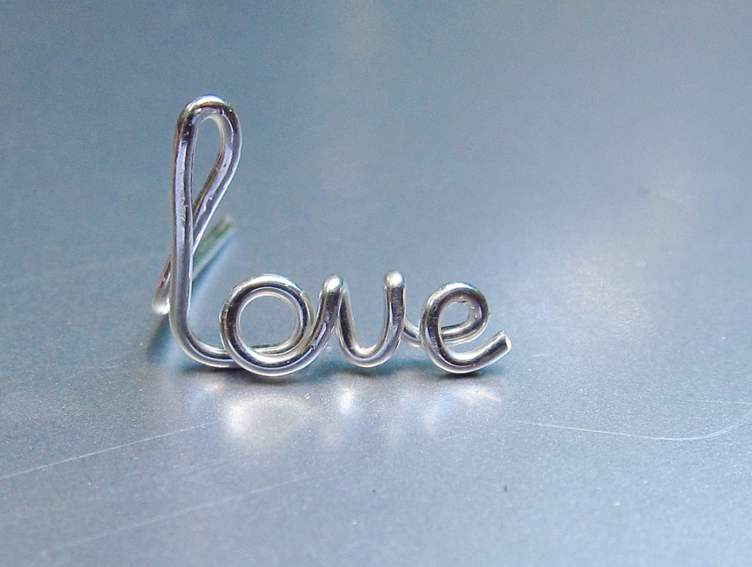 Single Love Earring-Sterling Silver-14K Gold-Rose Gold Filled