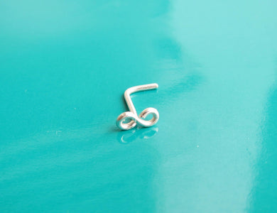 Tiny Infinity Piercing Nose Ring-Sterling Silver-14K Gold-Rose Gold Filled