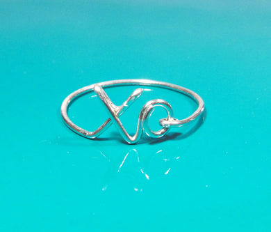 Dainty XO Ring-Sterling Silver-14K Rose Gold Filled-14K Gold Filled