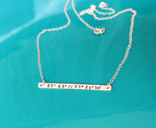 Location Necklace Sterling Silver