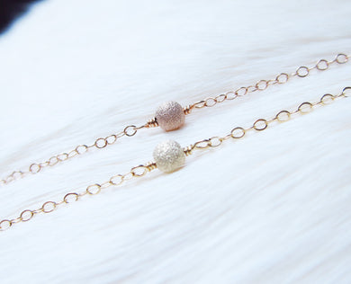 Dainty Stardust Necklace-Sterling Silver-14k Gold-Rose Gold Filled