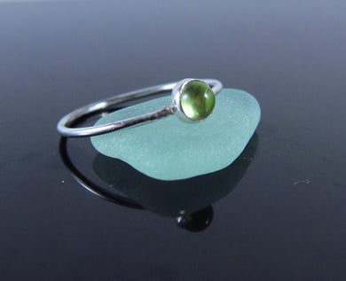 August Birthstone Ring Peridot-Sterling Silver
