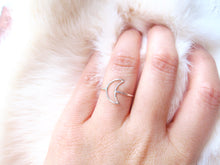 Dainty  Crescent Moon Ring-Sterling Silver-14K Gold Filled