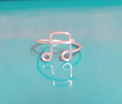 Dainty Music Note Ring-Sterling Silver-Gold-Rose Gold
