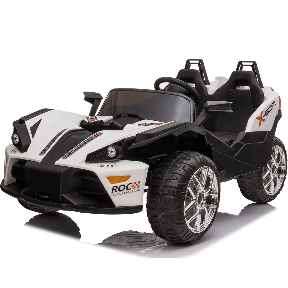 MotoTec Slingshot 12v Kids Car White(2.4ghz RC)