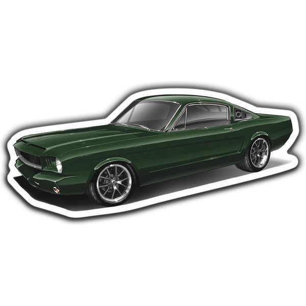 65 Ford Mustang Sticker