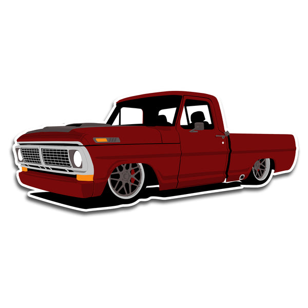 70 Ford F100 Sticker
