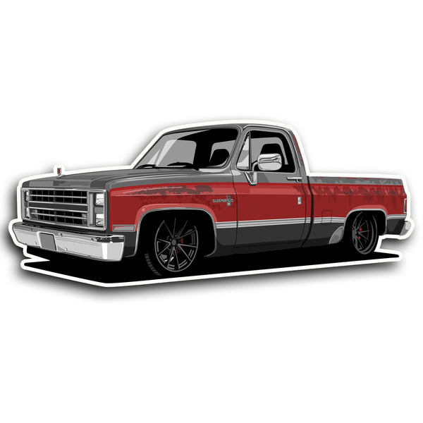 86 Sleeperado Truck Sticker