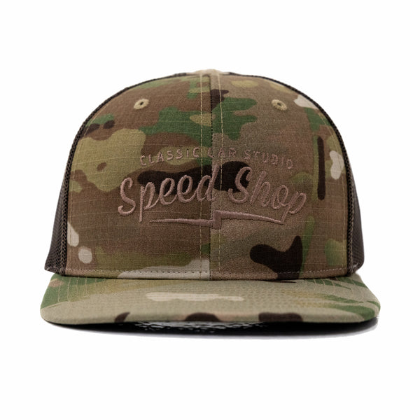 Speed Shop Logo Camouflage Trucker Cap