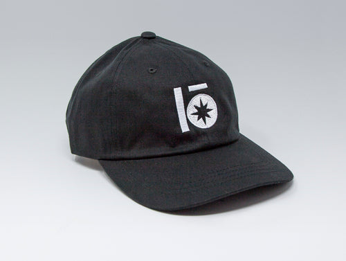 Localish Lo Star Dad Hat - Black & White - left