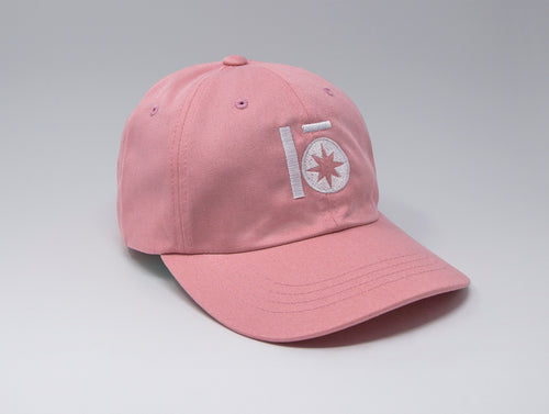 Localish Lo Star Dad Hat - Pink & White - left