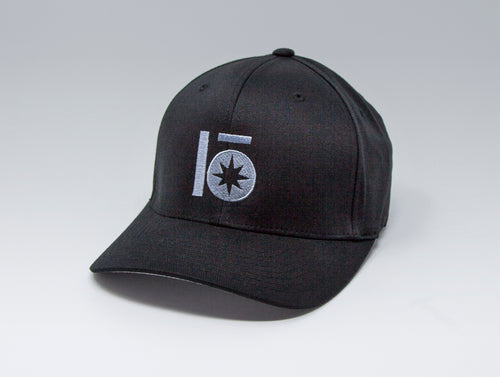 Localish Lo Star Flexfit Hat- Black & Grey - right