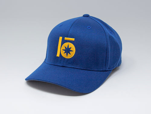 Localish Lo Star Flexfit Hat - Blue & Gold - right