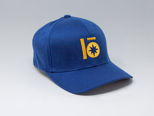 Localish Lo Star Flexfit Hat - Blue & Gold - left