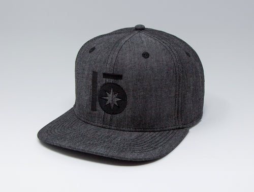 Localish Lo Star Classic Snapback Hat - Denim & Black - right