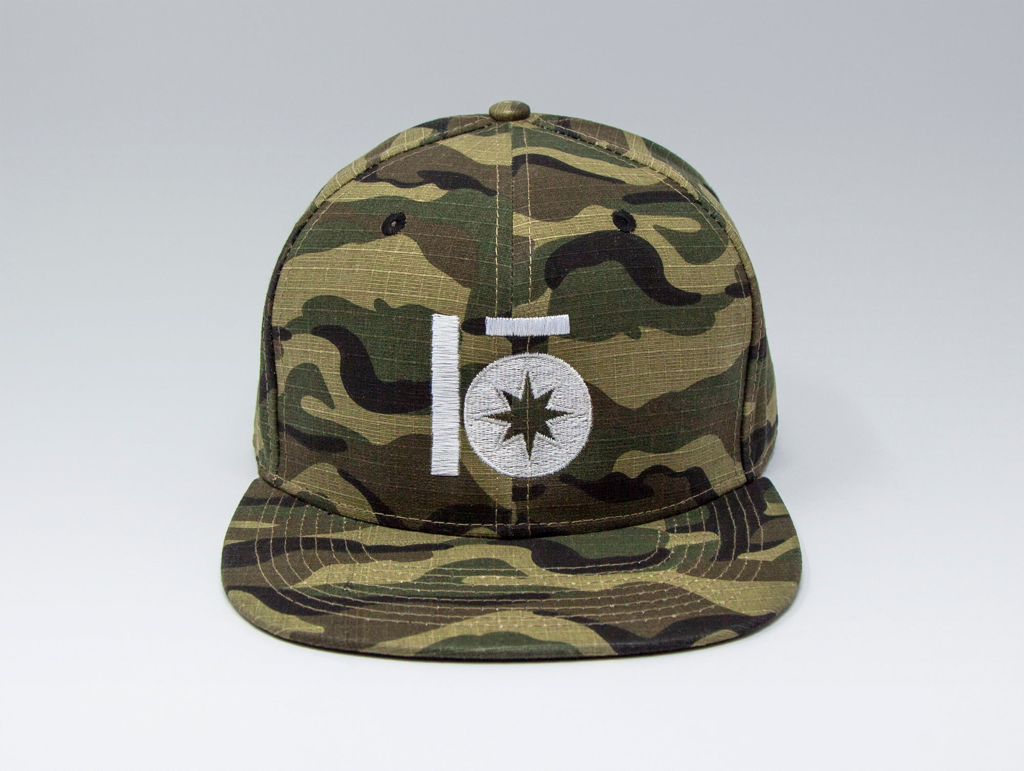Localish Lo Star Classic Snapback Hat - Camo - center