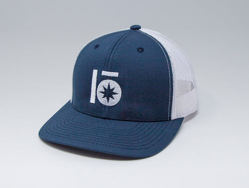 Localish Lo Star Trucker Hat - Navy & White - right