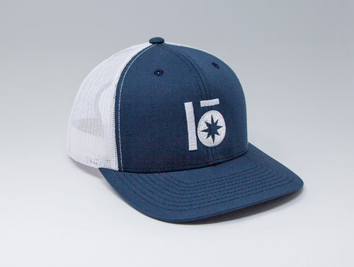 Localish Lo Star Trucker Hat - Navy & White - left