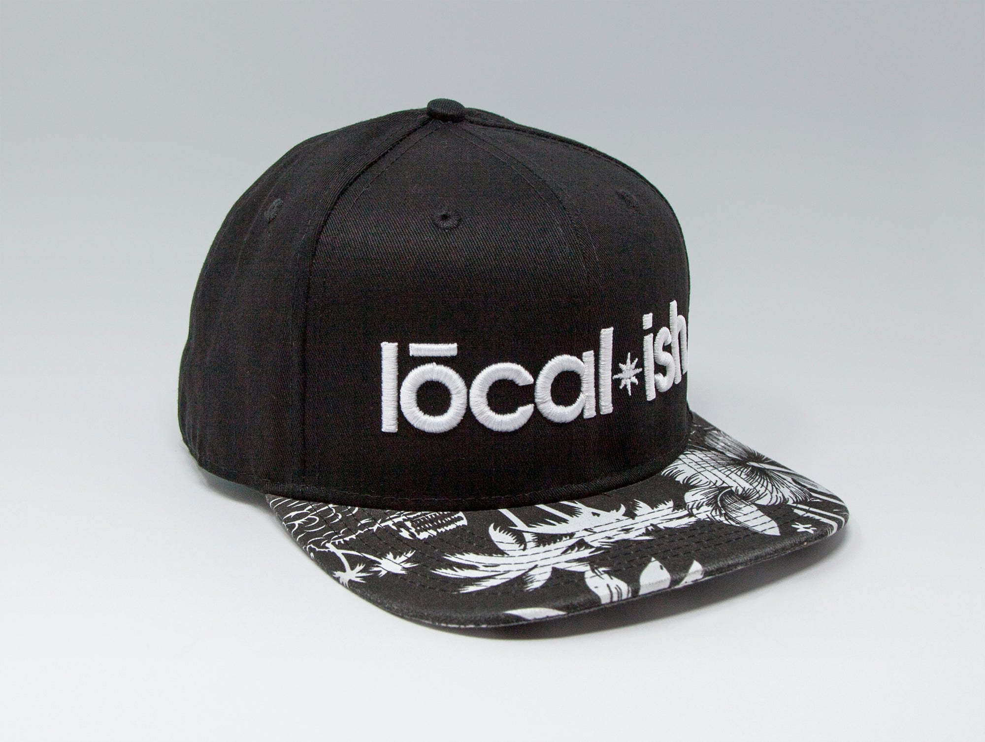 Localish Classic Snapback Hat - Palm Trees - left