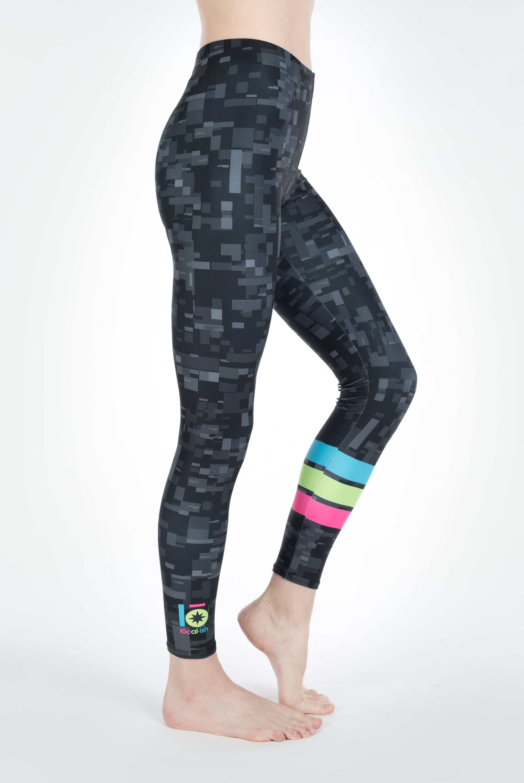 digi camo band legging