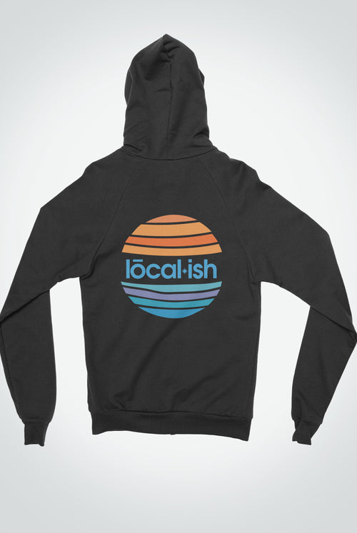 Global Front Zip Hoodie - Black