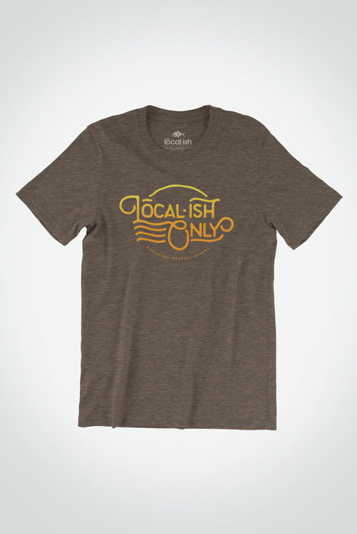 Localish Men's Localish Only Tee - Mocha Surfing T Shirt for Men