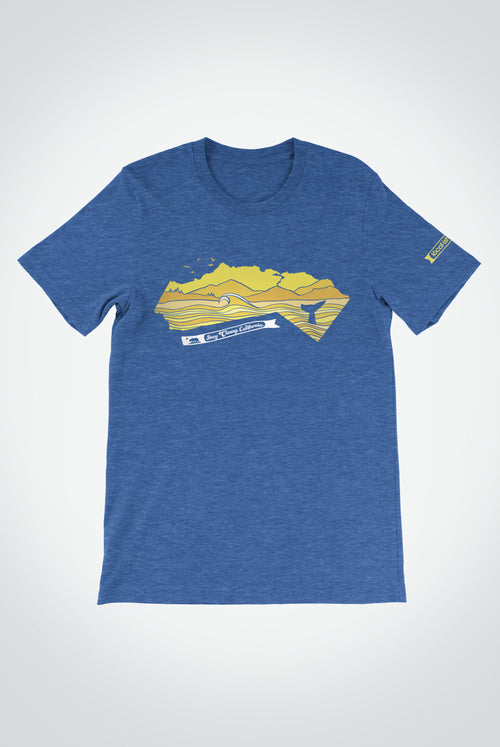 mens stay classy, california tee - blue