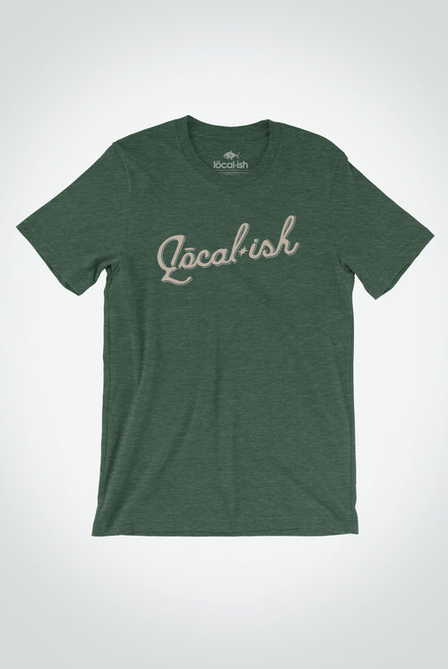 Men's Vintage Localish Tee - Heather Forest Green