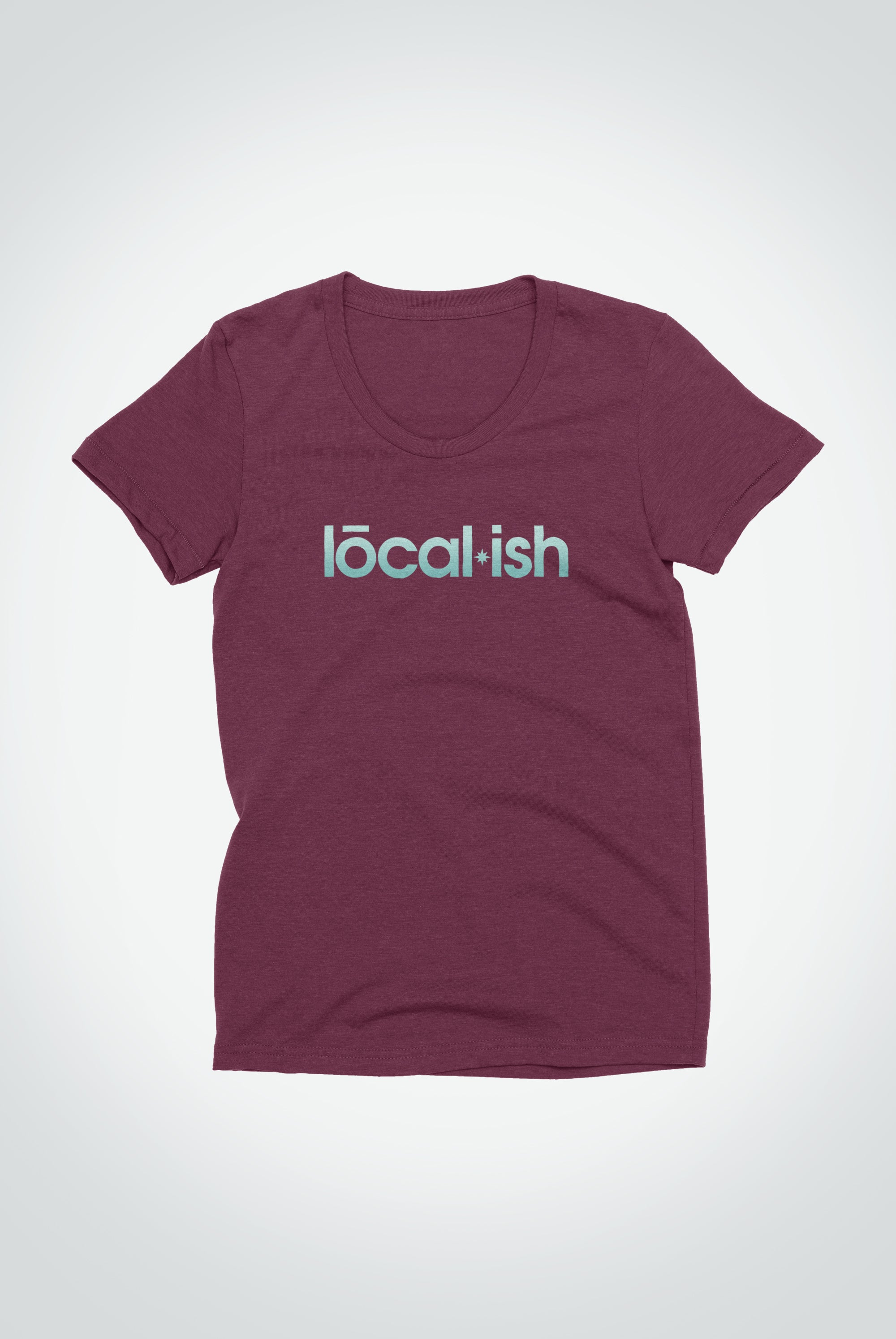 womens classic tee - cranberry