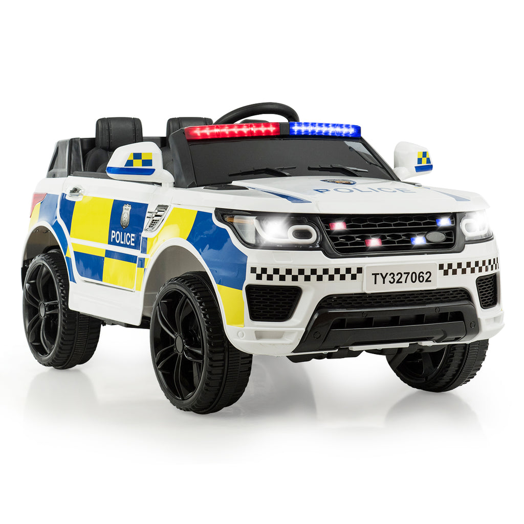 12V Kids Electric Ride-On SUV Police Car