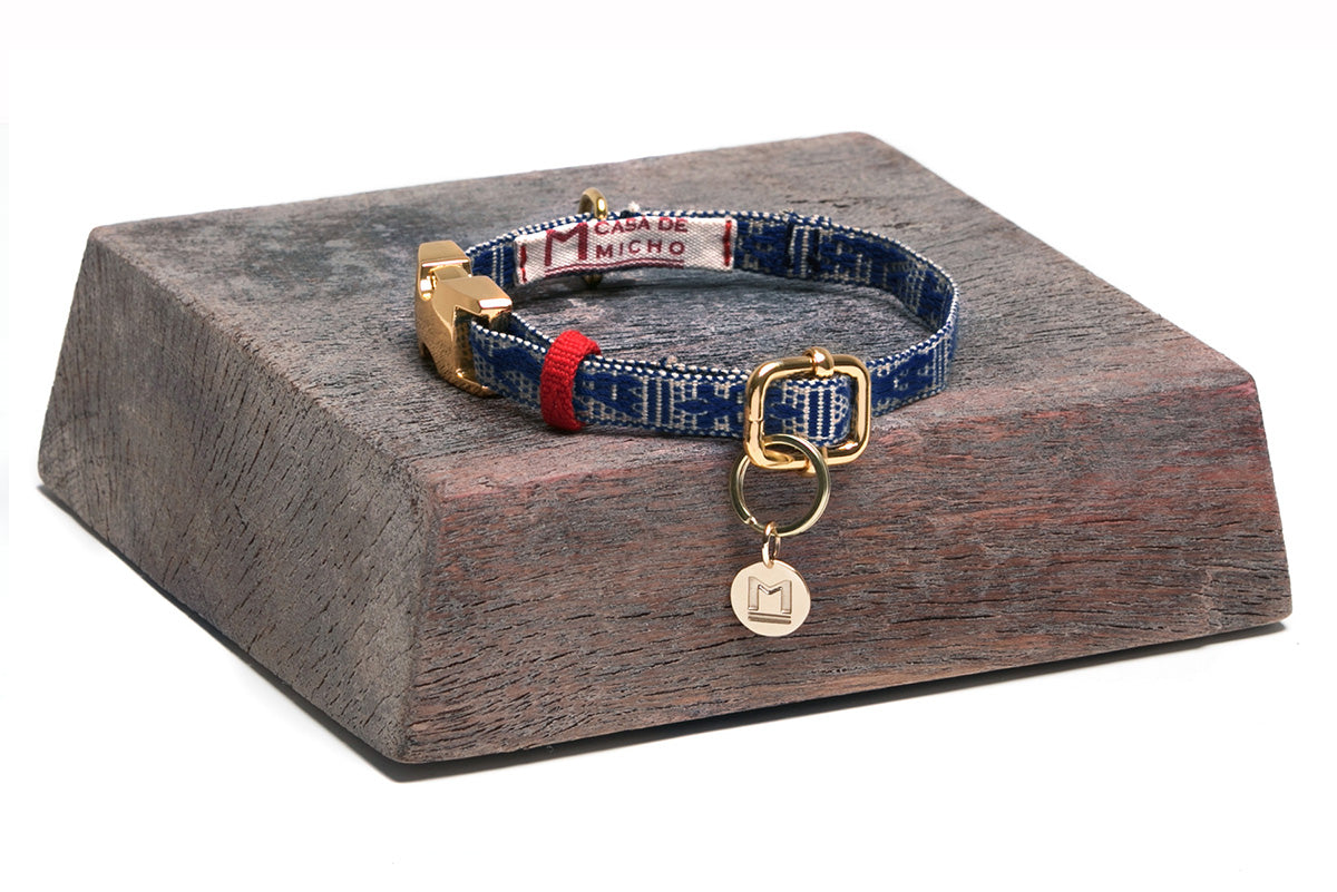 Casa de Micho Blue Extra Small Collar